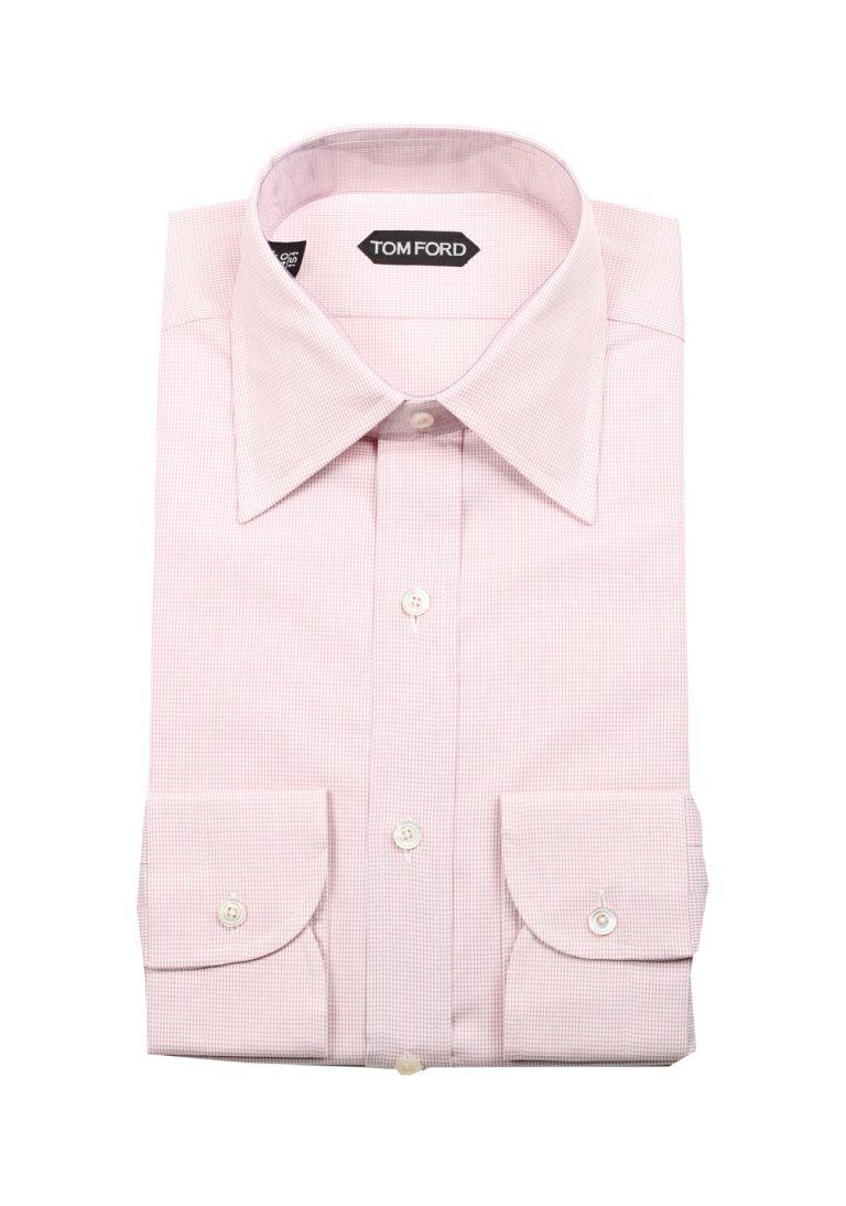 TOM FORD Checked White Pink Dress Shirt Size 40 / 15,75 U.S. - thumbnail | Costume Limité