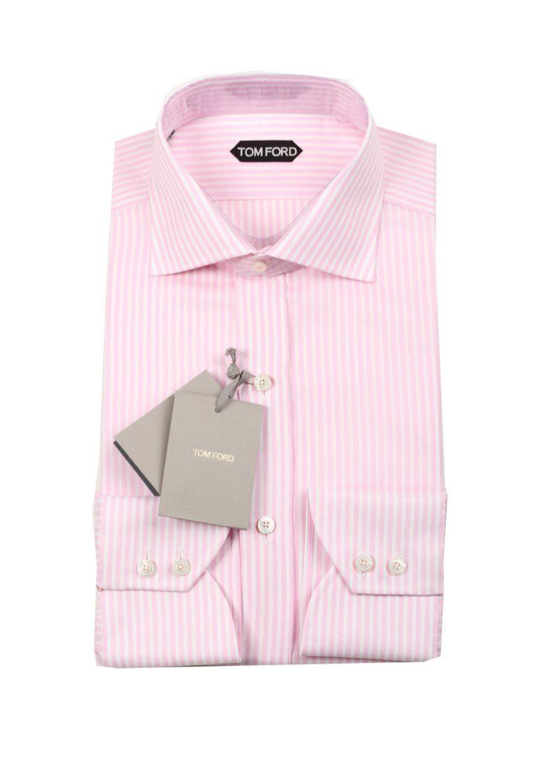 TOM FORD Striped White Pink Dress Shirt Size 42 / 16,5 U.S. - thumbnail | Costume Limité