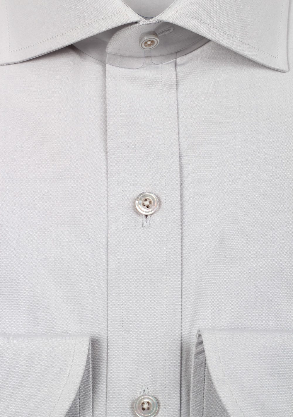 TOM FORD Solid Gray Dress Shirt Size 40 / 15,75 U.S. | Costume Limité