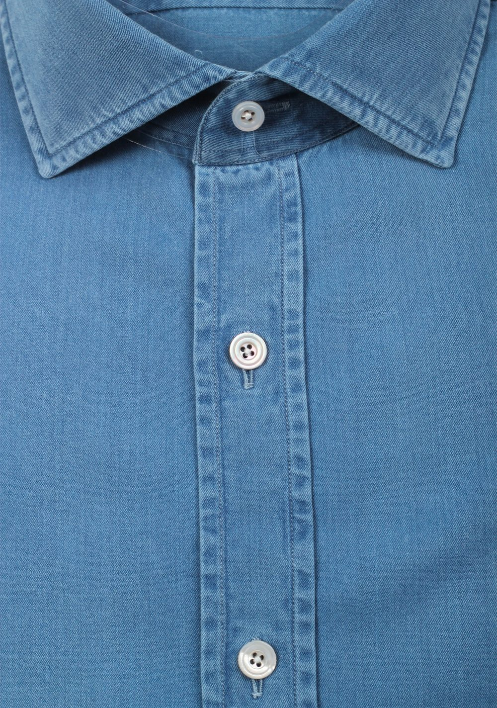 TOM FORD Solid Blue Denim Dress Shirt Size 42 / 16,5 U.S. | Costume Limité