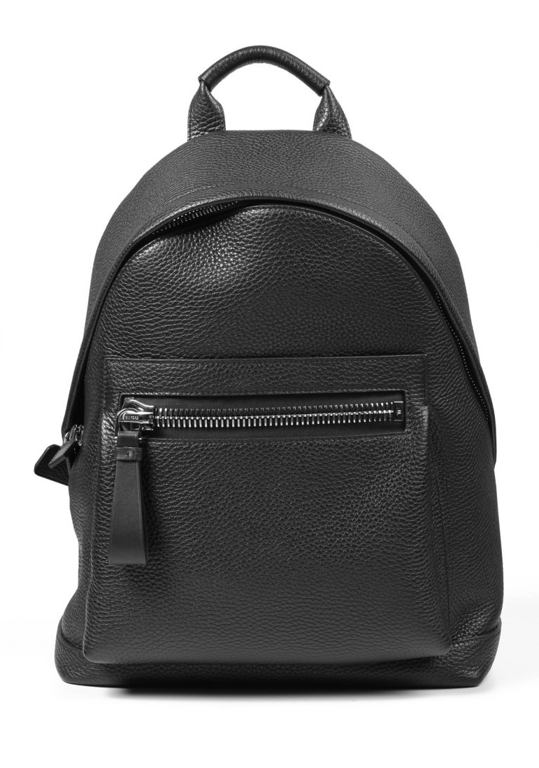 TOM FORD Buckley Black Grained Leather Backpack Bag - thumbnail | Costume Limité
