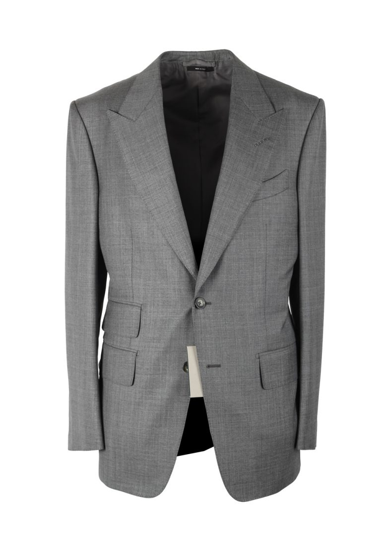 TOM FORD Windsor Solid Gray Suit Size 56 / 46R U.S. Wool Fit A - thumbnail | Costume Limité