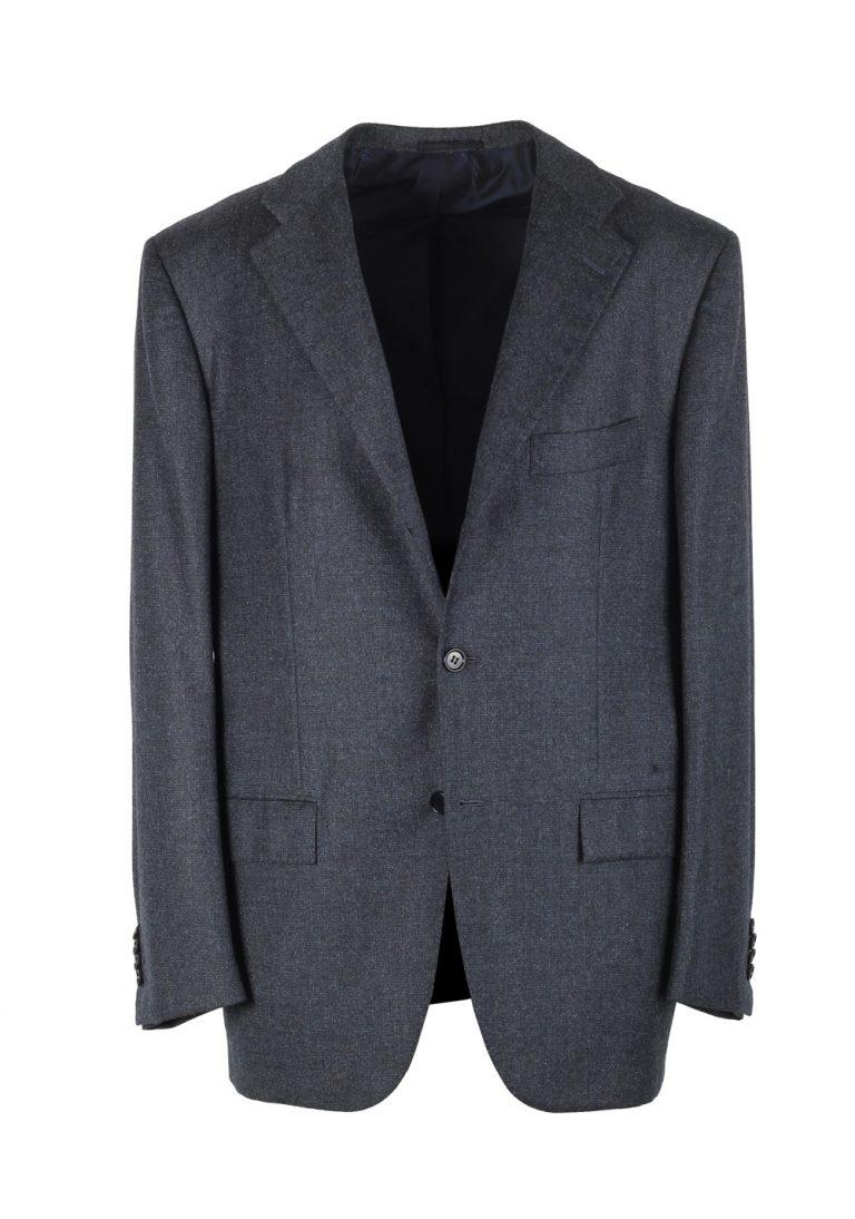 Kiton Blue Sport Coat Size 52 / 42R U.S. In Cashmere Silk - thumbnail | Costume Limité