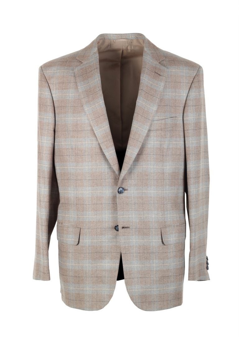 Brioni Gray Checked Colosseo Sport Coat Size 50 / 40R U.S. In Silk Cashmere - thumbnail | Costume Limité