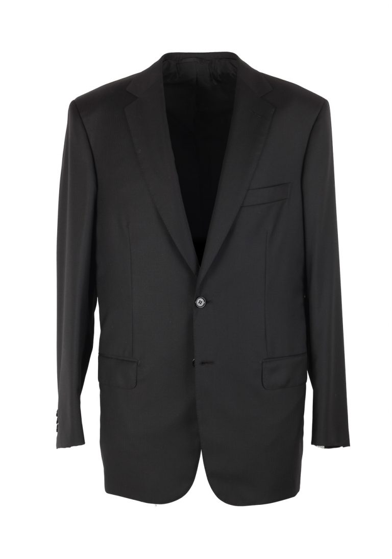 Brioni Colosseo Charcoal Suit Size 50 / 40R U.S. In Wool Super 150s - thumbnail | Costume Limité