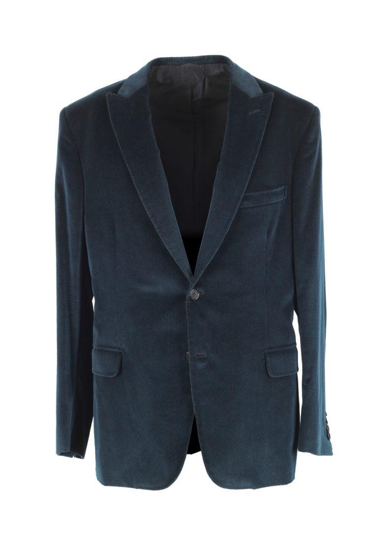 Brioni Bracciano Blue Sport Coat Size 52 / 42R U.S. In Cotton Cashmere - thumbnail | Costume Limité