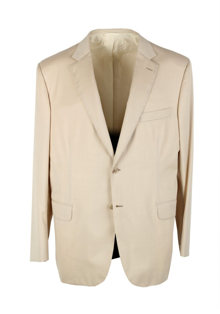 Brioni Brunico Ivory Sport Coat Size 56 / 46R U.S. In Wool Super 150s - thumbnail | Costume Limité
