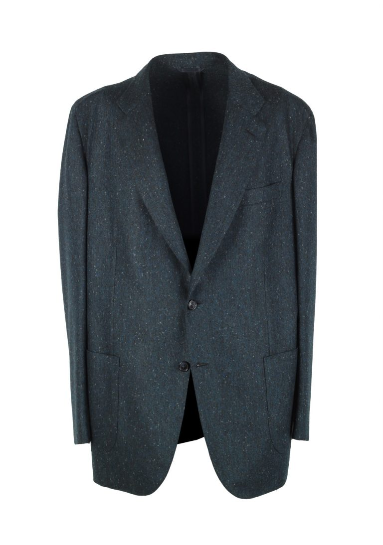 Brioni Piuma Blueish Green Sport Coat Size 56 / 46R U.S. In Wool - thumbnail | Costume Limité