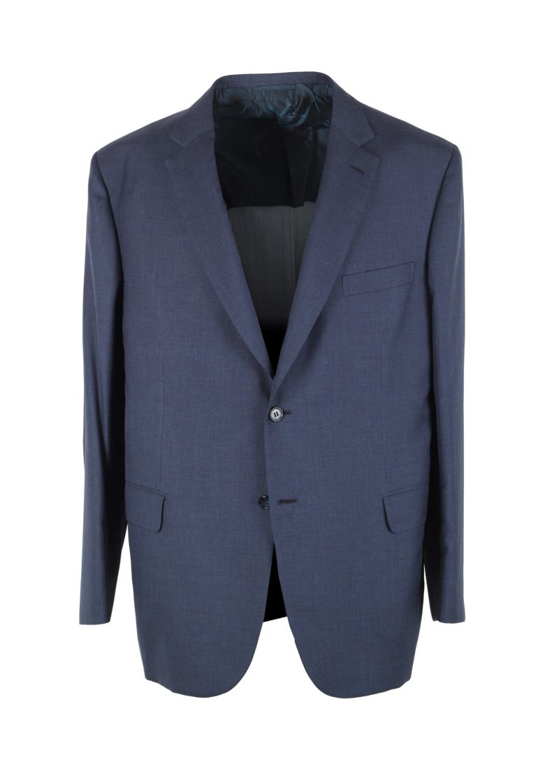 Brioni Brunico Blue Sport Coat Size 56 / 46R U.S. In Wool Silk - thumbnail | Costume Limité
