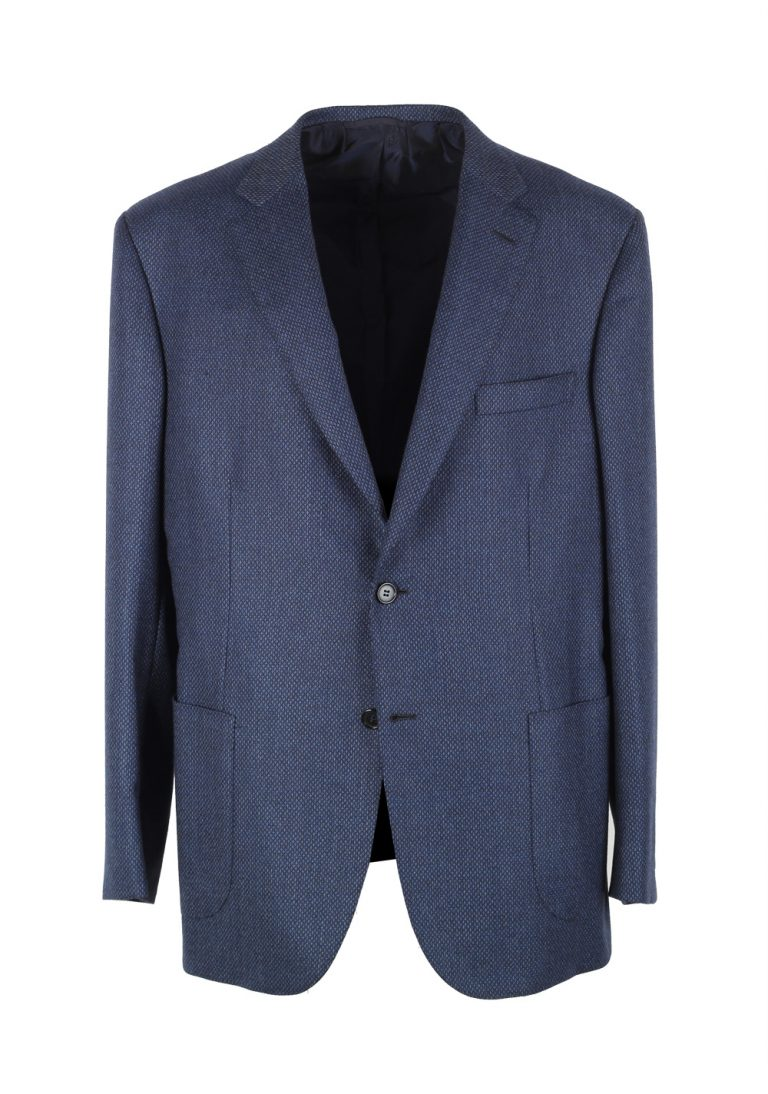 Brioni Brunico Blue Sport Coat Size 54 / 44R U.S. In Wool - thumbnail | Costume Limité