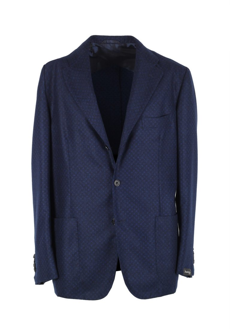 Sartorio By Kiton Blue Sport Coat Size 52 / 42R U.S. In Wool - thumbnail | Costume Limité