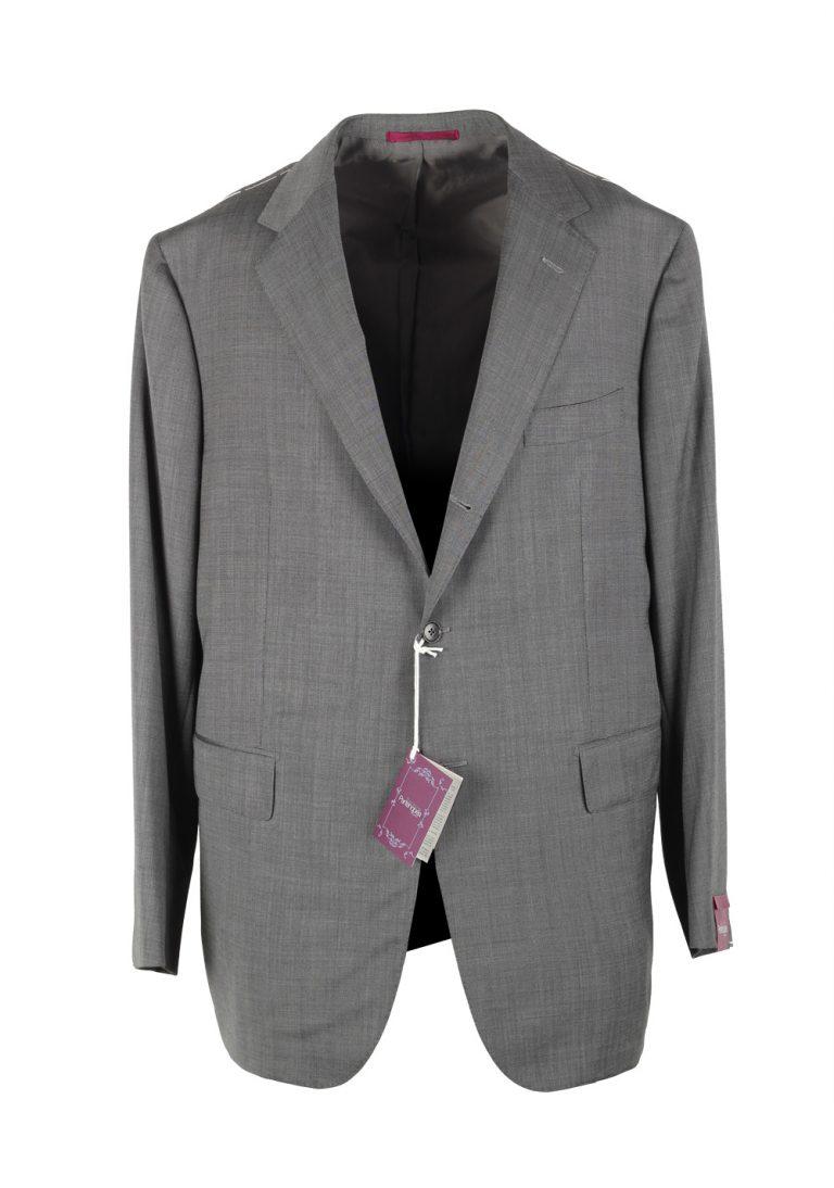 Sartoria Partenopea Gray Suit Size 58 / 48R U.S. In 100% silk - thumbnail   Costume Limité