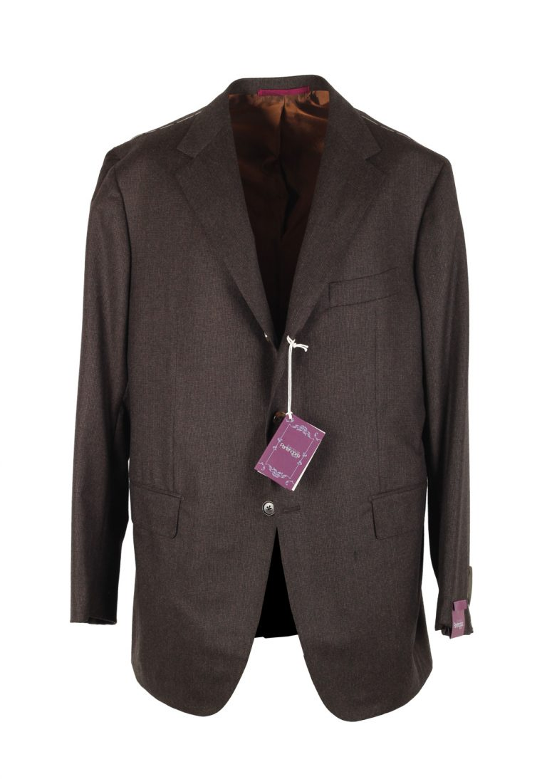 Sartoria Partenopea Brown Suit Size 58 / 48R U.S. In Wool - thumbnail | Costume Limité