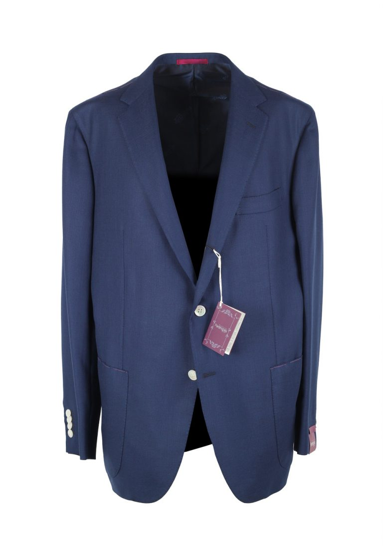 Sartoria Partenopea Blue Sport Coat Size 58 / 48R U.S. In Wool - thumbnail | Costume Limité