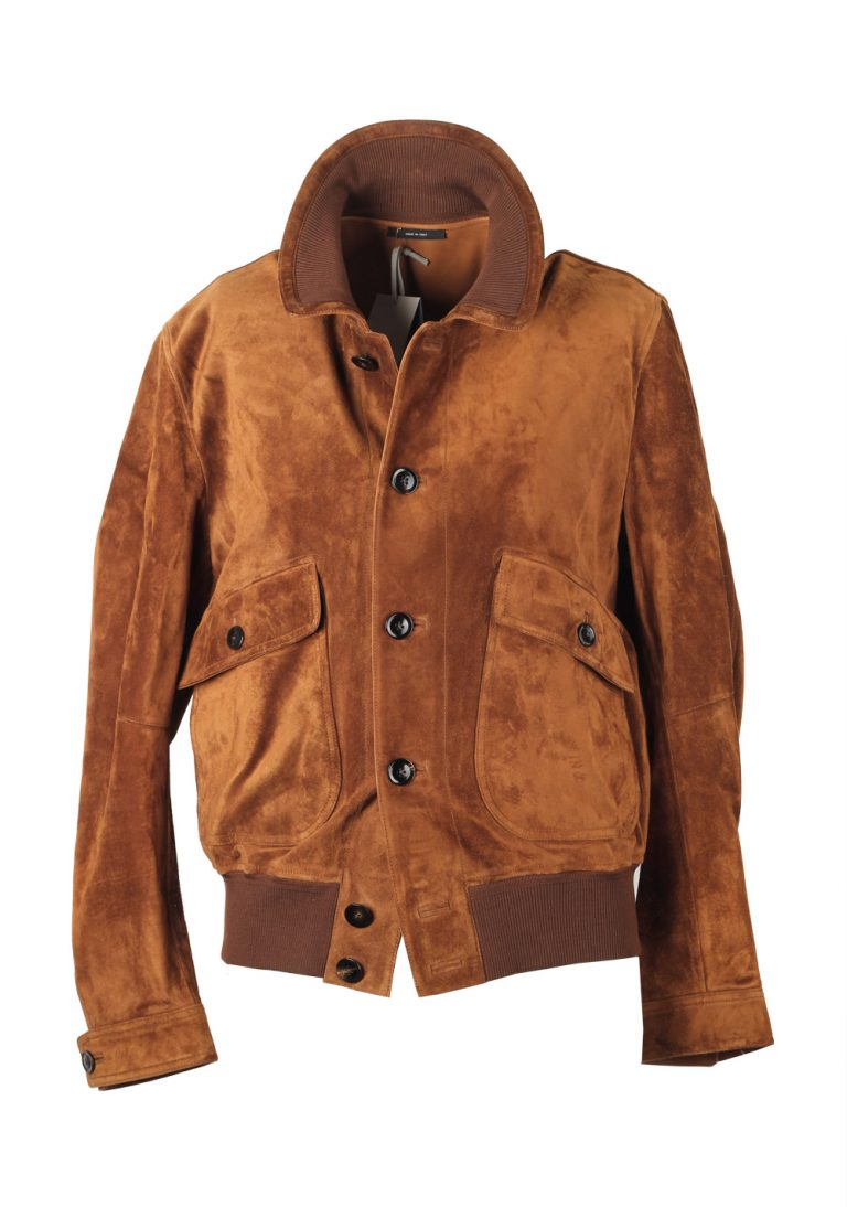 TOM FORD Lambskin Leather Suede Jacket Coat Size 54 / 44R U.S. Outerwear - thumbnail | Costume Limité