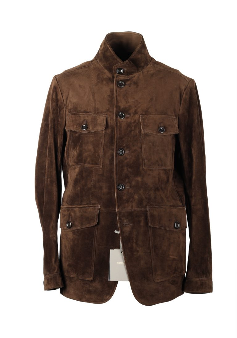 TOM FORD Military Leather Suede Jacket Coat Size 50 / 40R U.S. Outerwear - thumbnail | Costume Limité