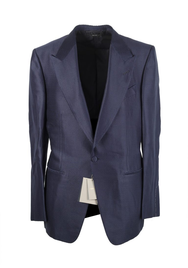 TOM FORD Windsor Blue Sport Coat Tuxedo Dinner Jacket Size 50 / 40R U.S. Fit A - thumbnail | Costume Limité