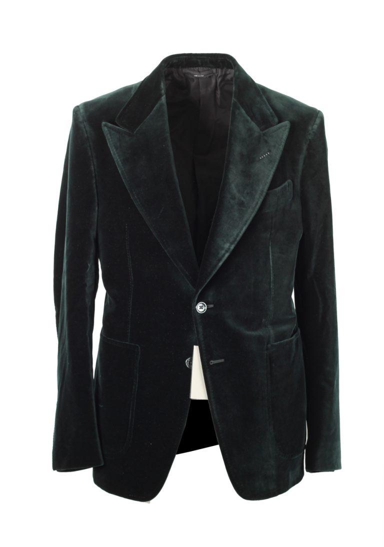 Shelton Velvet Green Sport Coat Size Size 48C / 38S U.S. - thumbnail | Costume Limité