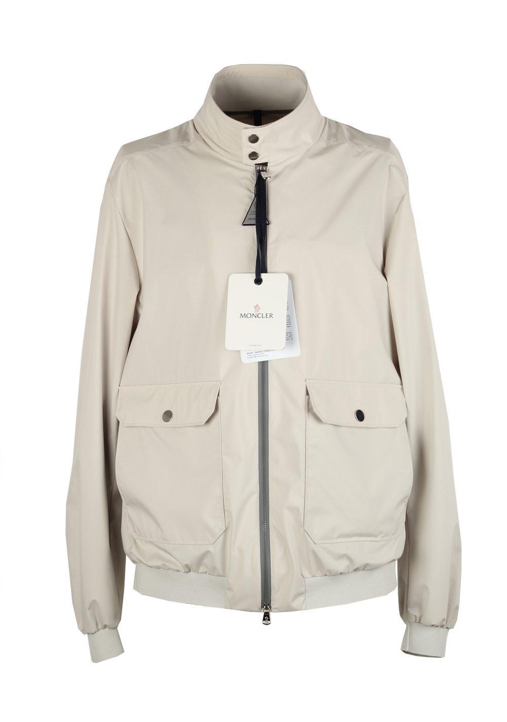 Moncler Beige Verte Bomber Jacket Coat Size 4 / L / 52 / 42 U.S. | Costume Limité