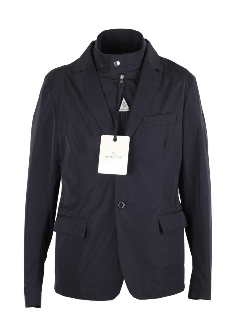 Moncler Blue Ecaillon Layered Shell Jacket Coat Size 2 / M / 48 / 38 U.S. - thumbnail | Costume Limité