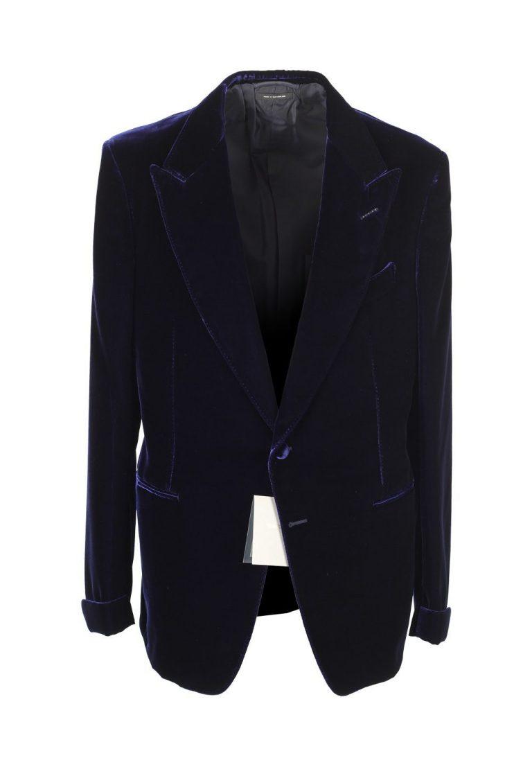 TOM FORD Shelton Blue Sport Coat Velvet Tuxedo Dinner Jacket Size 48 / 38R U.S. - thumbnail | Costume Limité