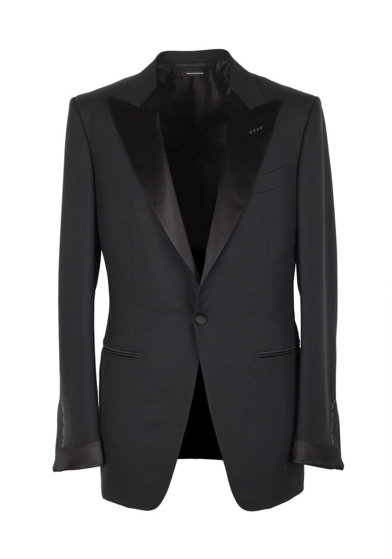 TOM FORD O'Connor Black Tuxedo Smoking Suit Size 54 / 44R U.S. Fit Y - thumbnail | Costume Limité