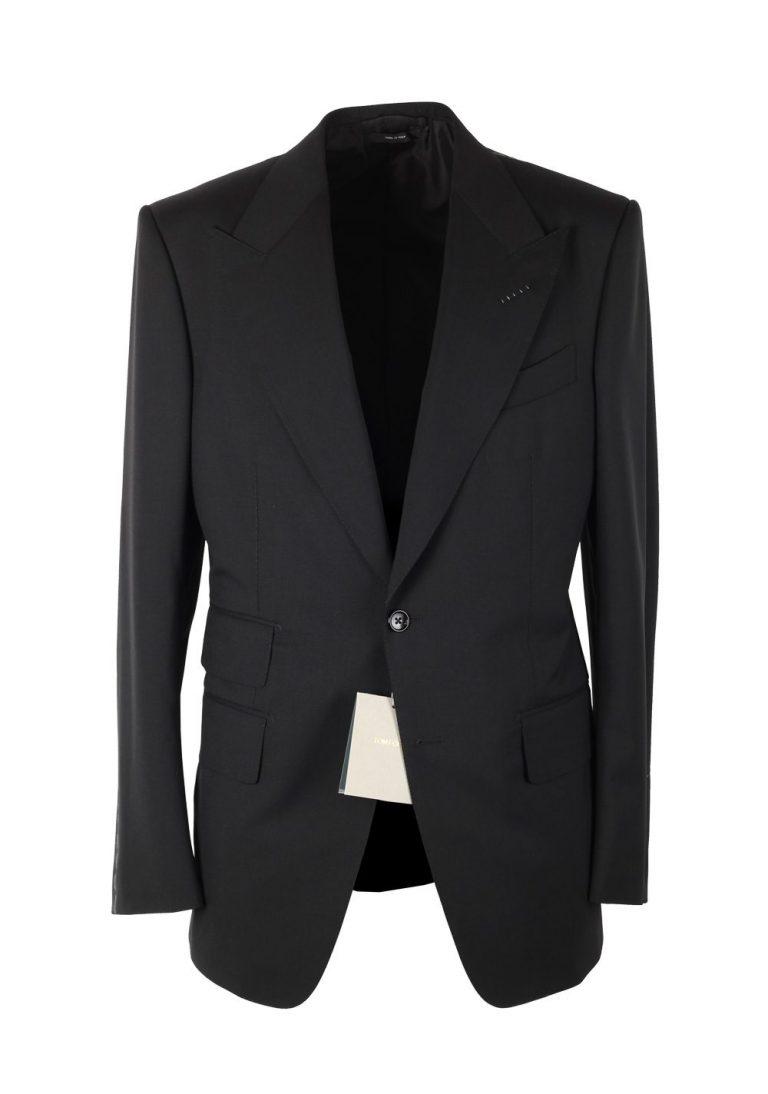 TOM FORD Windsor Solid Black Suit Size 50C / 40S U.S. Wool Fit A - thumbnail   Costume Limité