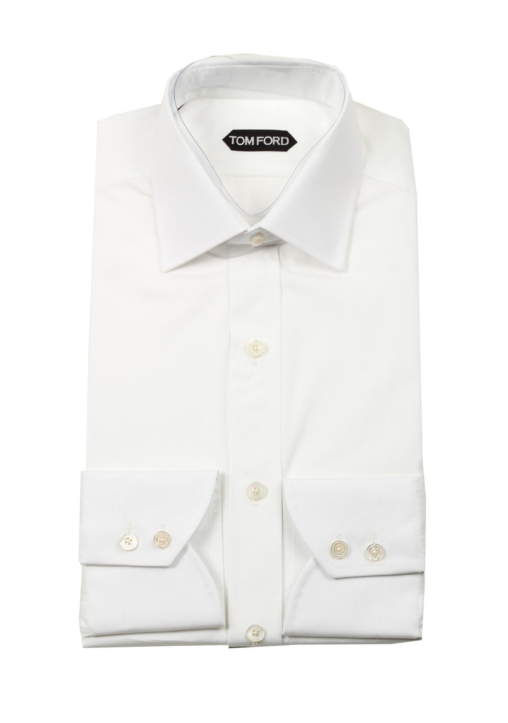 TOM FORD Solid White Dress Shirt Size 39 / 15,5 U.S. | Costume Limité