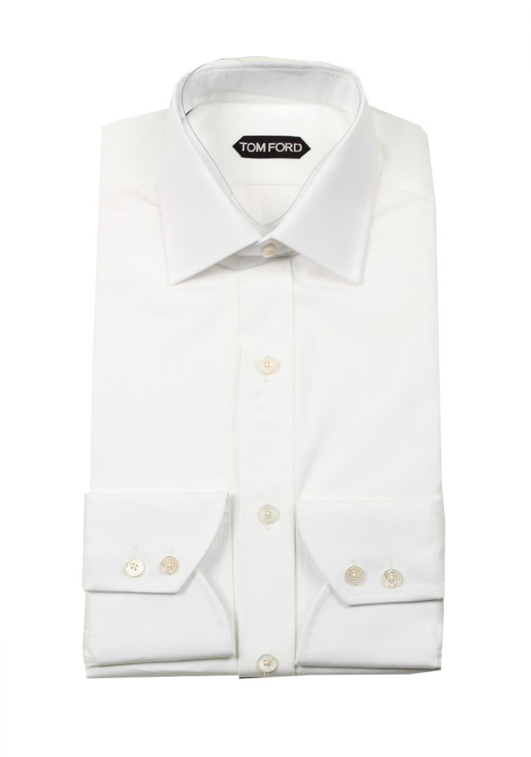 TOM FORD Solid White Dress Shirt Size 39 / 15,5 U.S. - thumbnail | Costume Limité