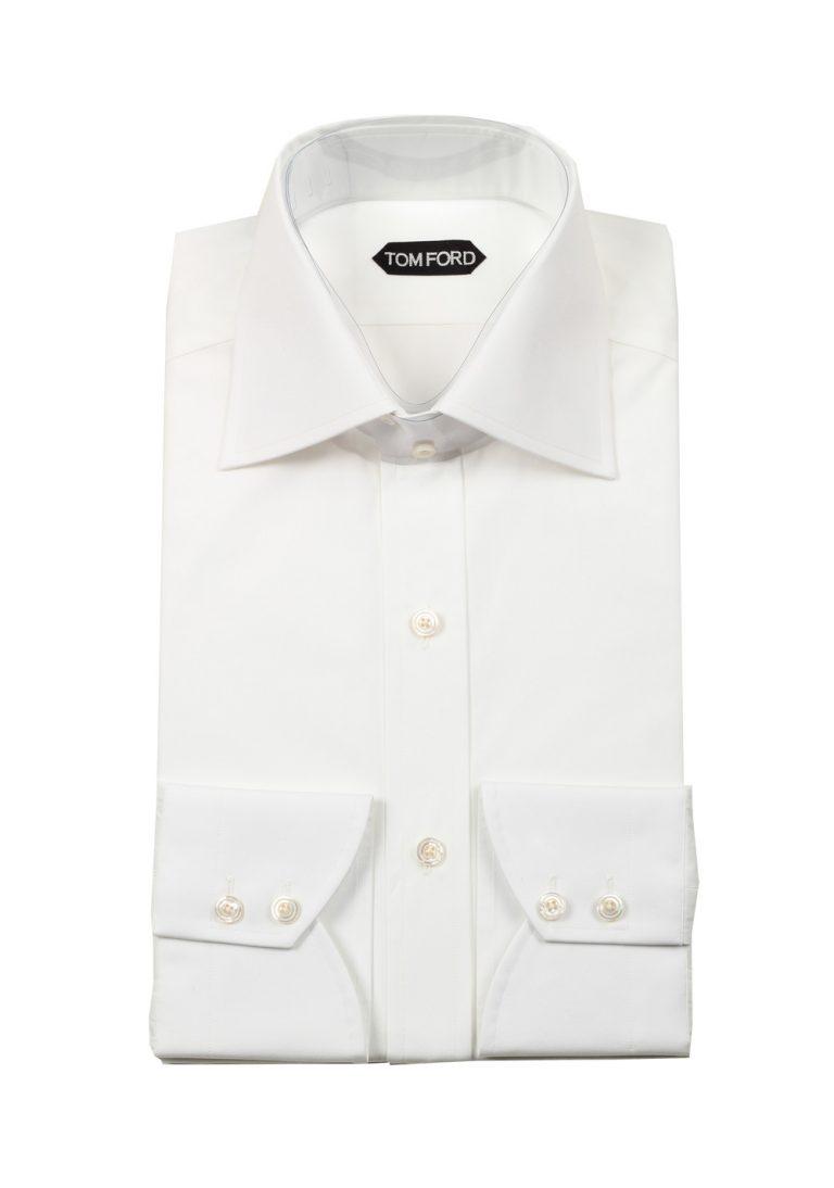 TOM FORD Solid White Dress Shirt Size 42 / 16,5 U.S. - thumbnail | Costume Limité
