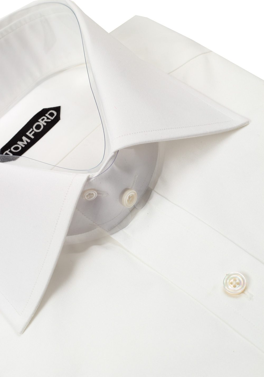 TOM FORD Solid White Dress Shirt Size 42 / 16,5 U.S. | Costume Limité