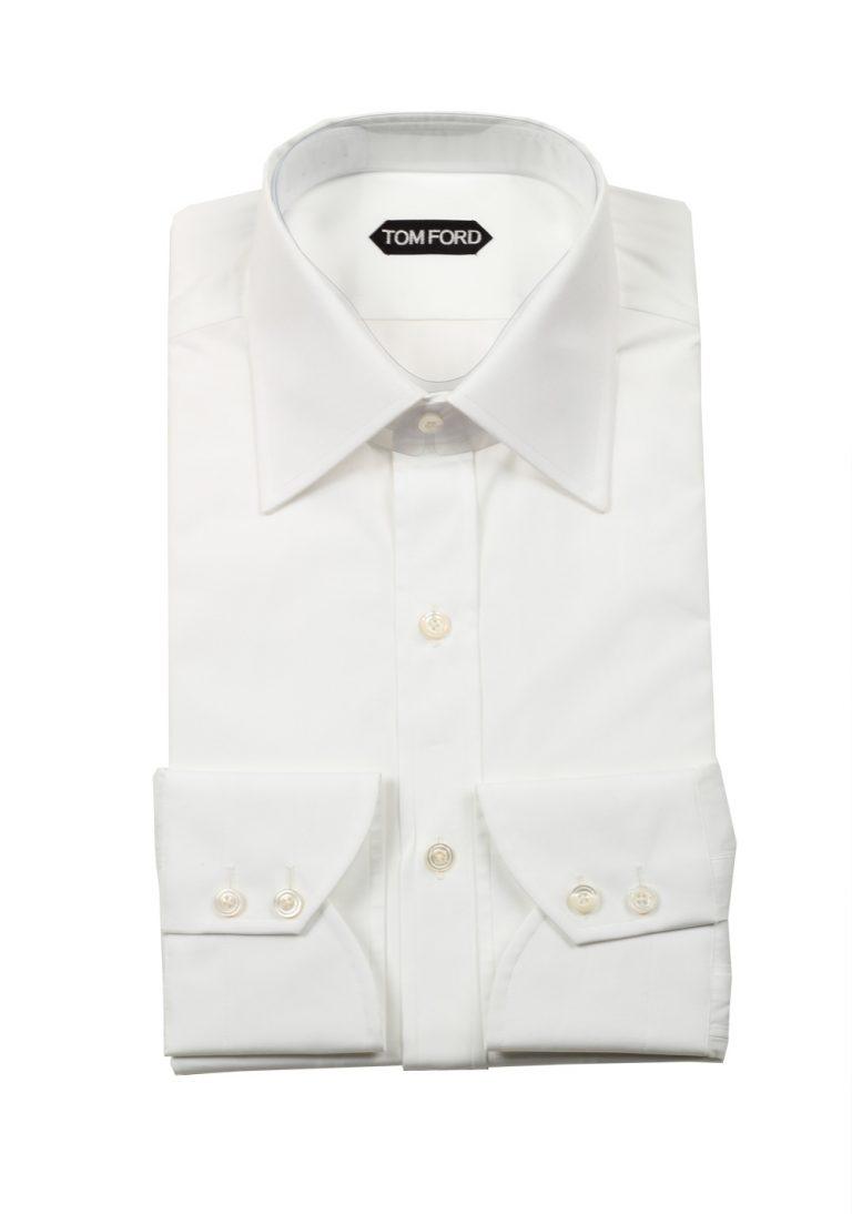 TOM FORD Solid White Dress Shirt Size 38 / 15 U.S. - thumbnail | Costume Limité