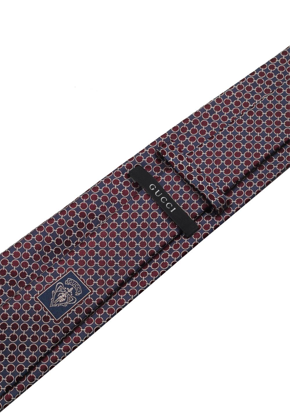 Gucci Blue / Purple Patterned Tie | Costume Limité