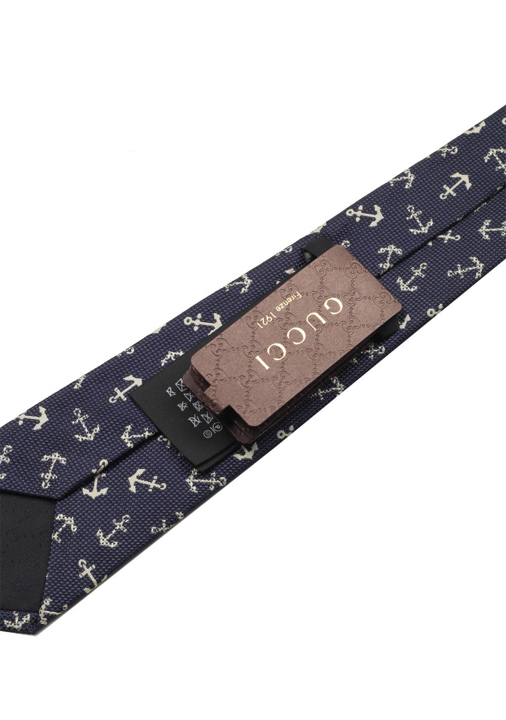 Gucci Blue Patterned Tie | Costume Limité