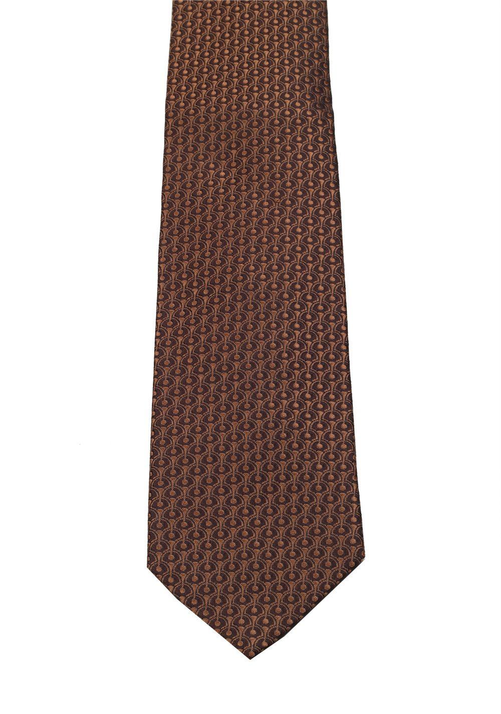 Gucci Brown Patterned Tie | Costume Limité