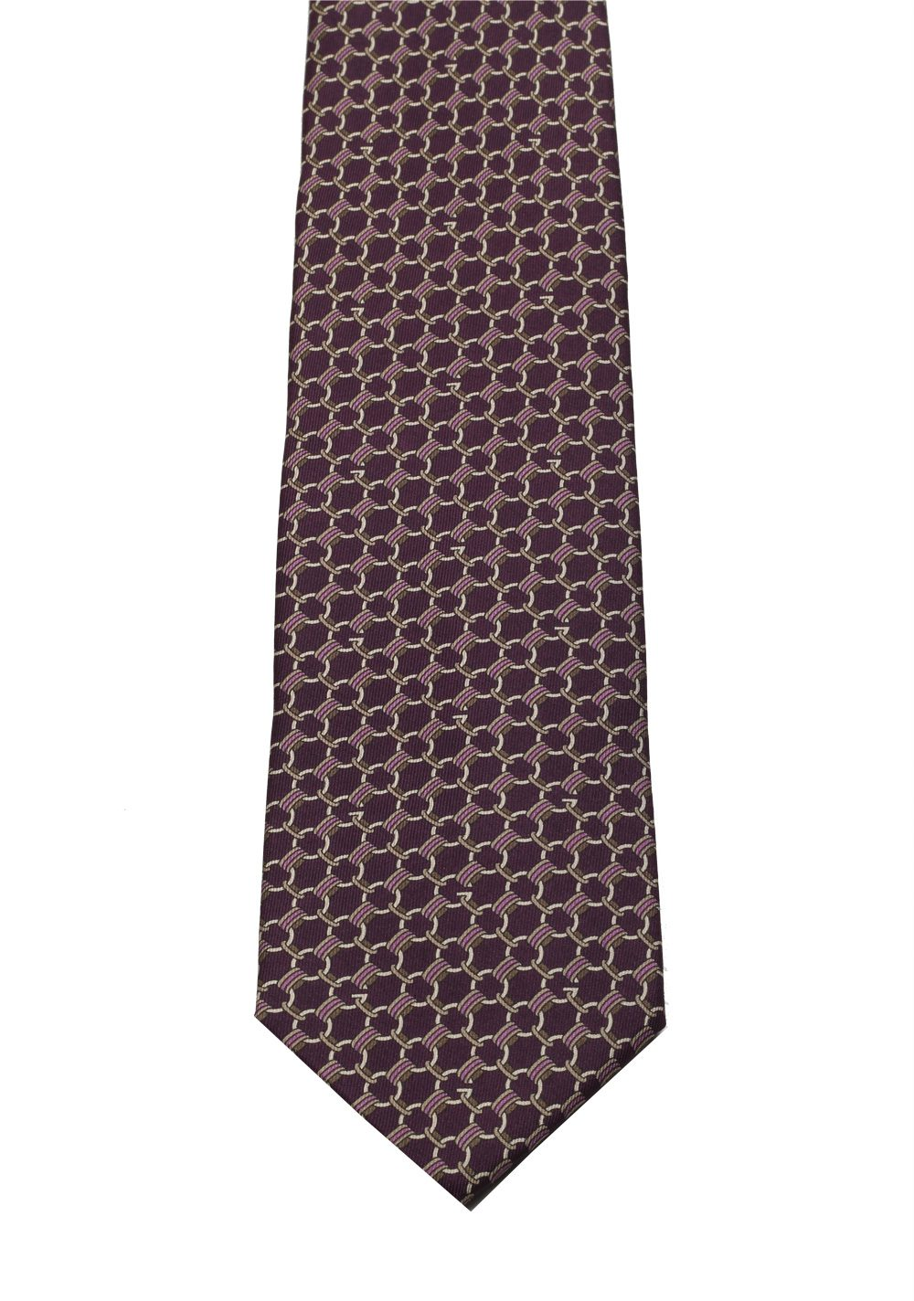 Gucci Purple Patterned Tie | Costume Limité