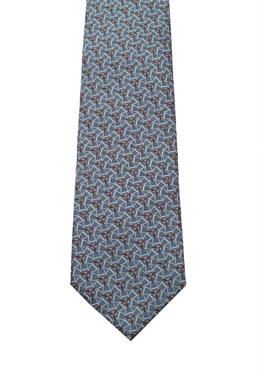 Gucci Blue Patterned Tie   Costume Limité