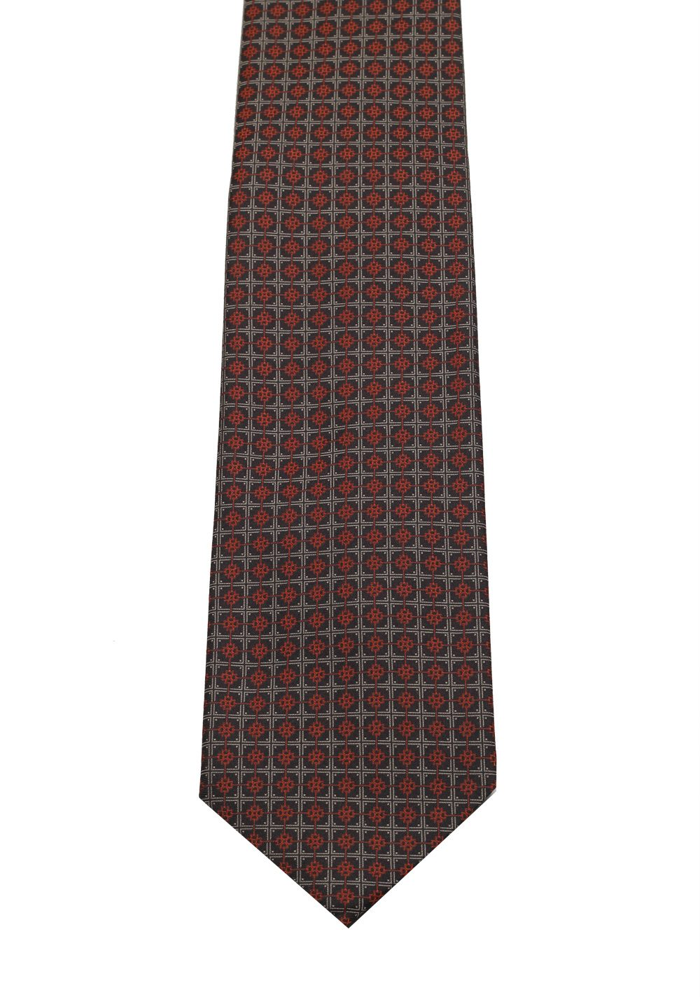 Gucci Gray / Brownish Patterned Tie | Costume Limité