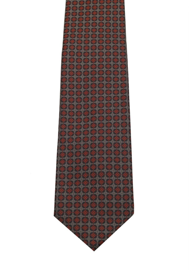 Gucci Gray / Brownish Patterned Tie - thumbnail | Costume Limité