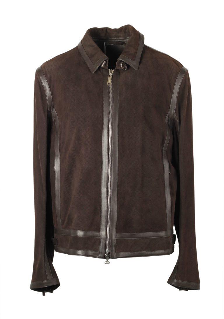 Massimo Sforza Brown Leather Coat Jacket Size 54 / 44R U.S. - thumbnail | Costume Limité
