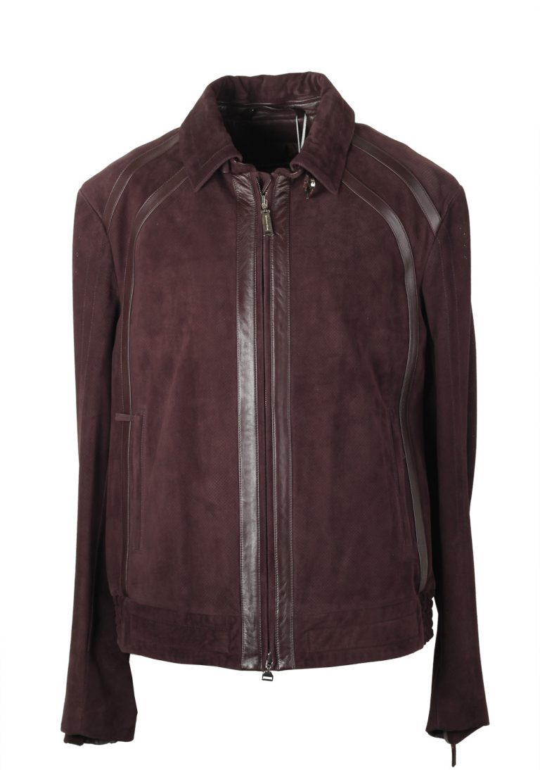 Massimo Sforza Brown Leather Coat Jacket Size 58 / 48R U.S. - thumbnail | Costume Limité