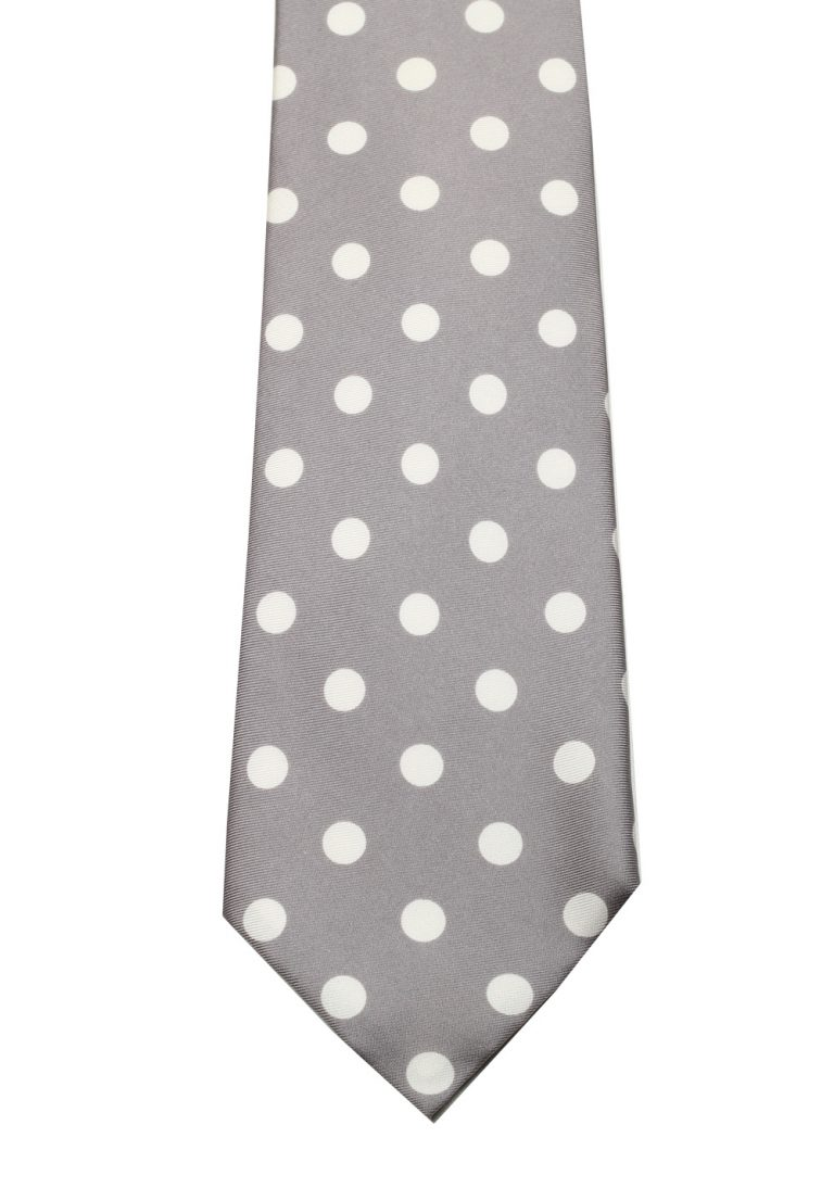 TOM FORD Patterned Gray Tie In Silk - thumbnail | Costume Limité