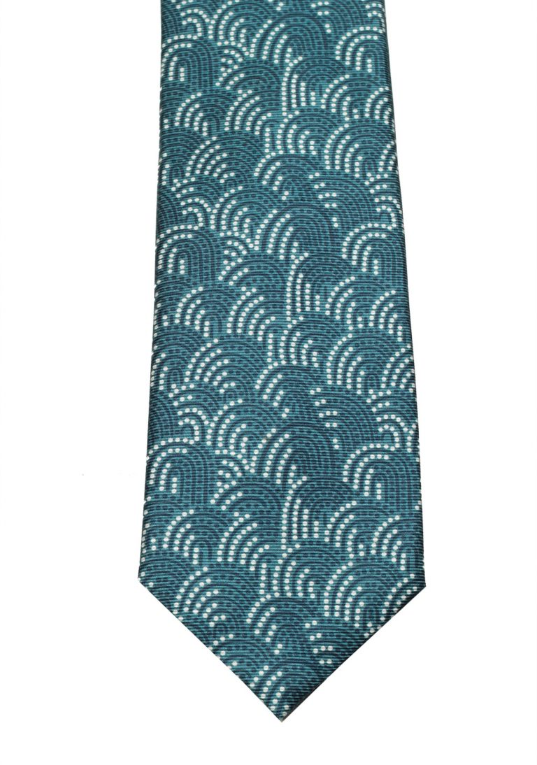 TOM FORD Patterned Green Tie In Silk - thumbnail | Costume Limité