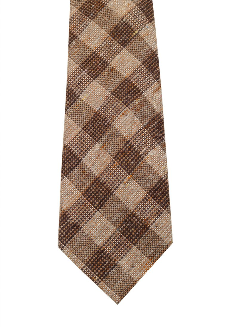 TOM FORD Checked Brown Tie In Silk - thumbnail | Costume Limité