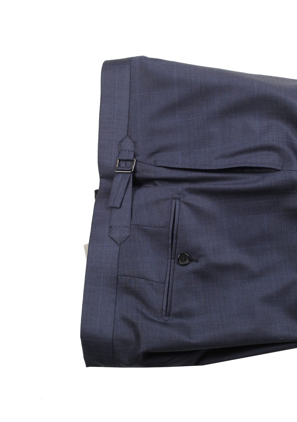 TOM FORD O'Connor Blue Checked 3 Piece Suit Size 56 46R