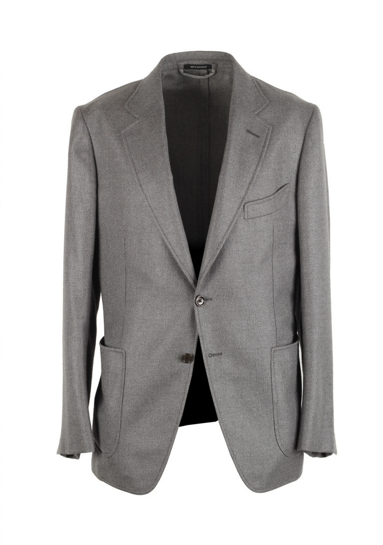 TOM FORD Shelton Blue Sport Coat Size 50 / 40R U.S. Silk Cashmere - thumbnail | Costume Limité