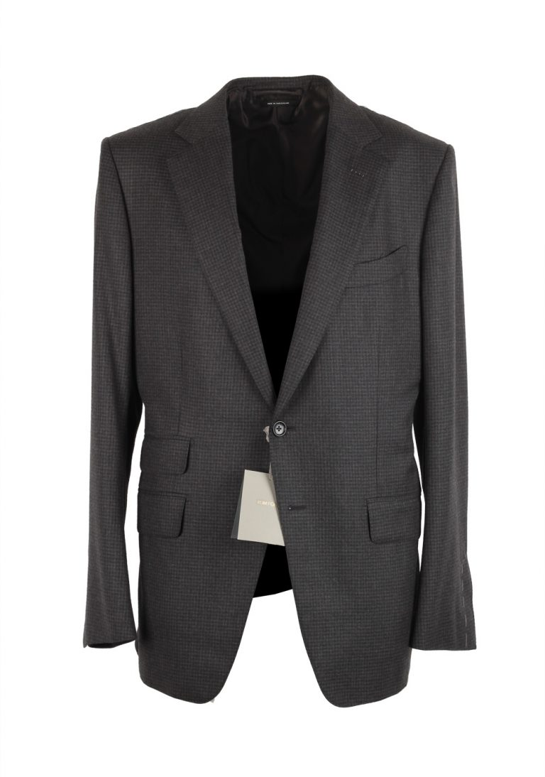 TOM FORD O'Connor Checked Sport Coat Size 52 / 42R U.S. Fit Y - thumbnail | Costume Limité