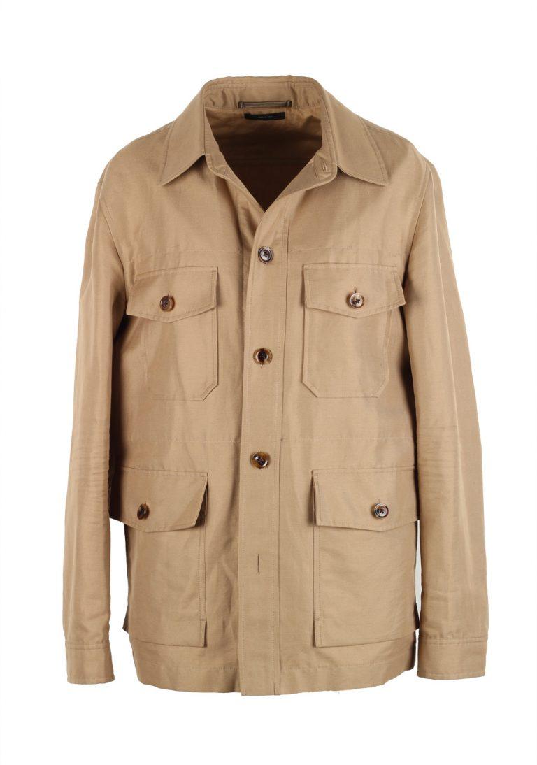 TOM FORD Beige Military Safari Coat Size 52 / 42R U.S. Outerwear - thumbnail | Costume Limité
