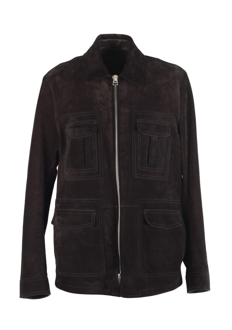 TOM FORD Military Leather Suede Jacket Coat Size 54 / 44R U.S. Outerwear - thumbnail | Costume Limité