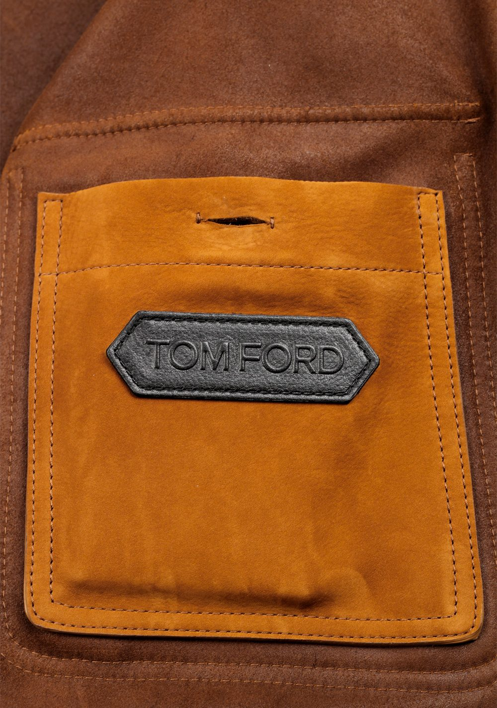 TOM FORD Leather Bomber Jacket Coat Size 60 / 50R U.S. Outerwear | Costume Limité